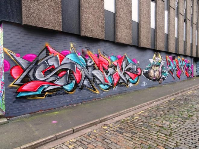 Smak, Sled One and Ments, Wilder Street, Bristol, December 2018