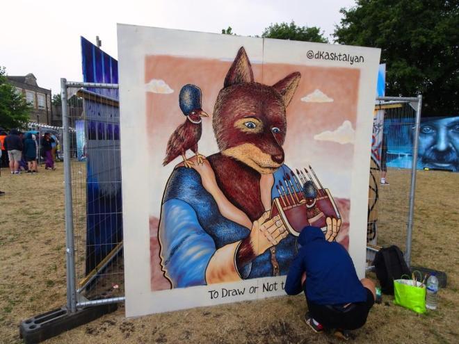 Dima Kashtalyan, Upfest, Bristol, July 2018