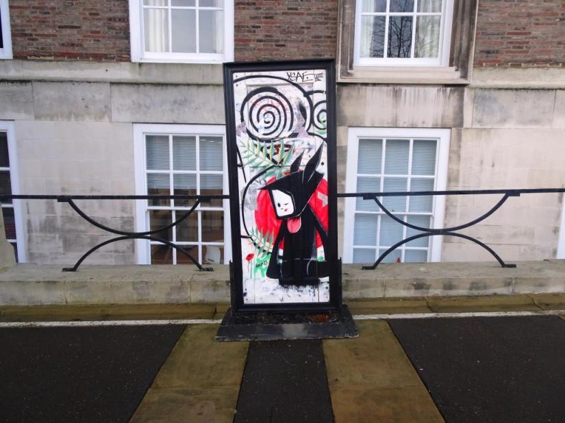 Street art door, A Year Outdoors, Bristol, December 2018
