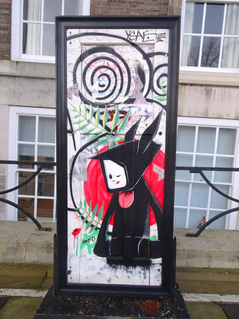 Street art door, A Year Outdoors, Bristol, December 2018