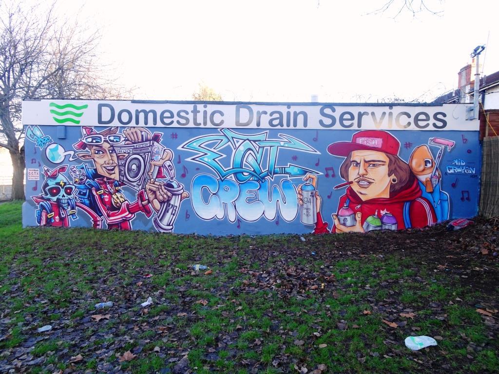 SPZero76 and Kid Crayon, Millpond Street, Bristol, Jabnuary 2019