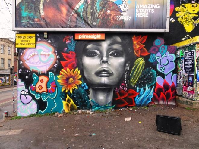 Soap, Hazard and Tasha Bee, Stokes Croft, Bristol, January 2019