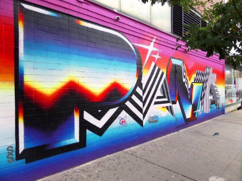 Felipe Pantone, Ludlow Street, New York, October 2017