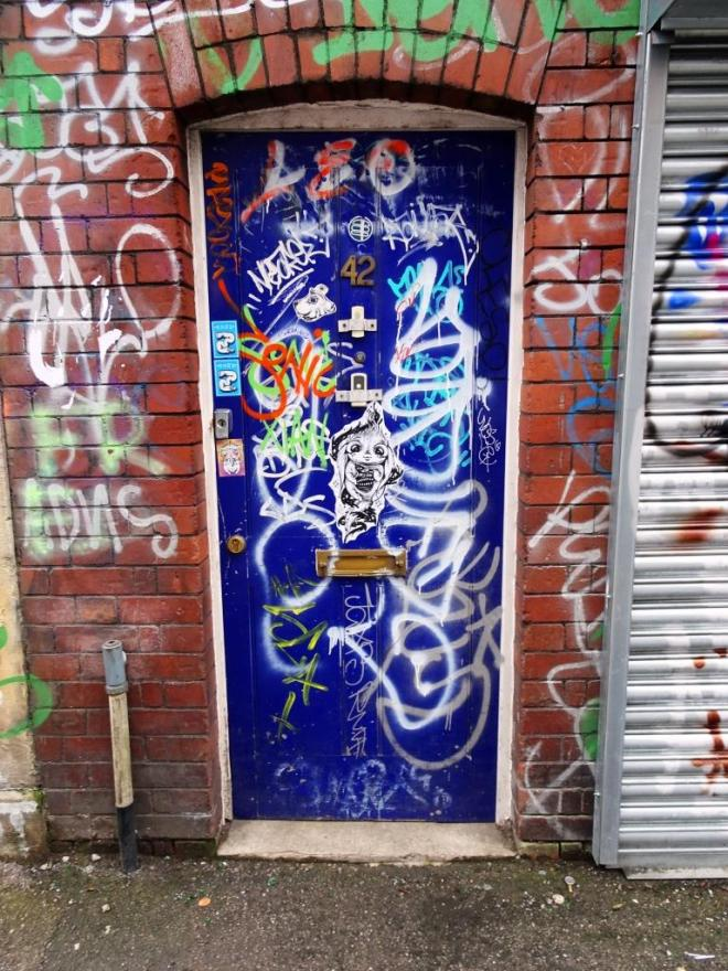 Door, Stokes Croft, Bristol, January 2019