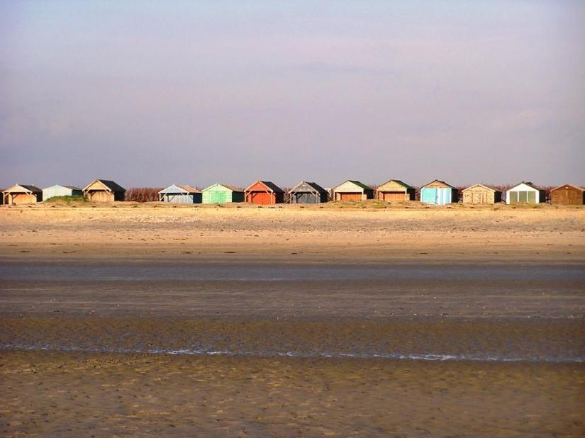 Beach huts West Wittering, February 2006
