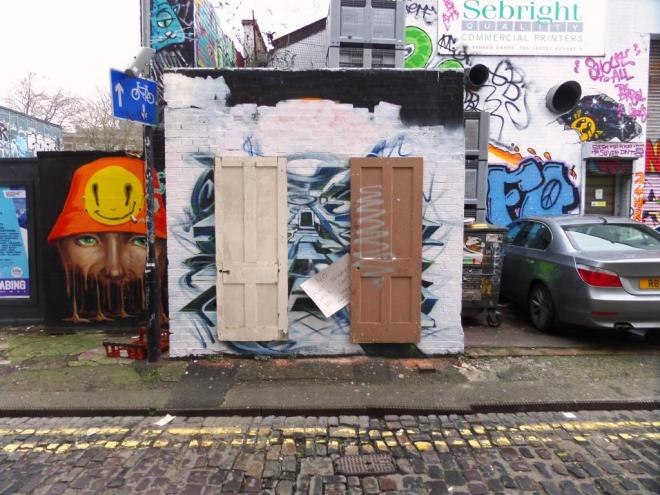 Doors on a Wall, Moon Street, Bristol, January 2017