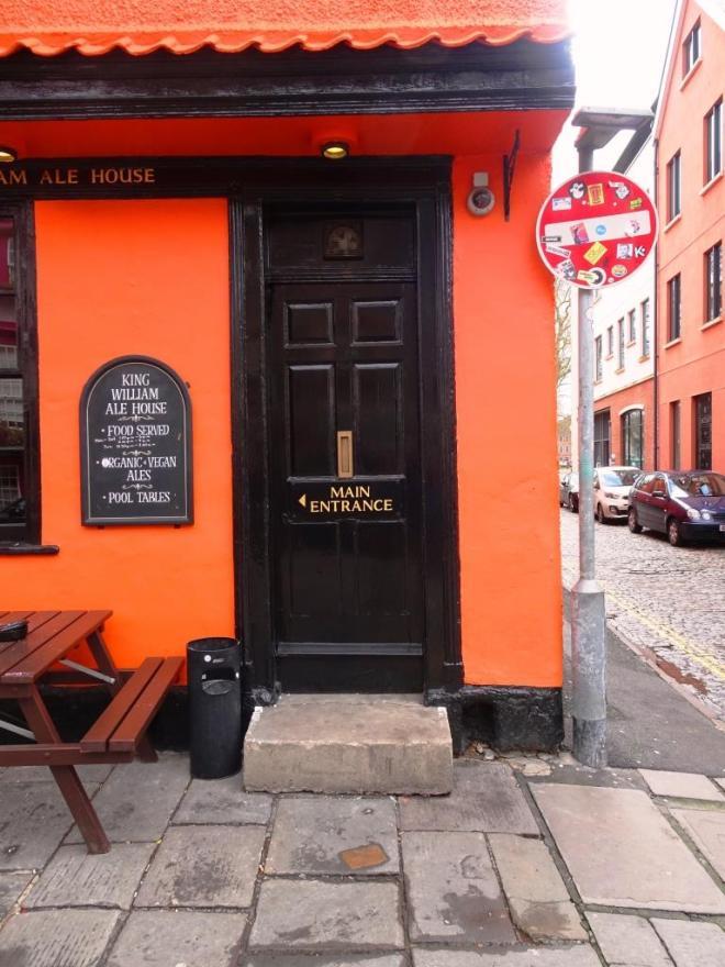 Pub door (but not the main entrance), Bristol, March 2019