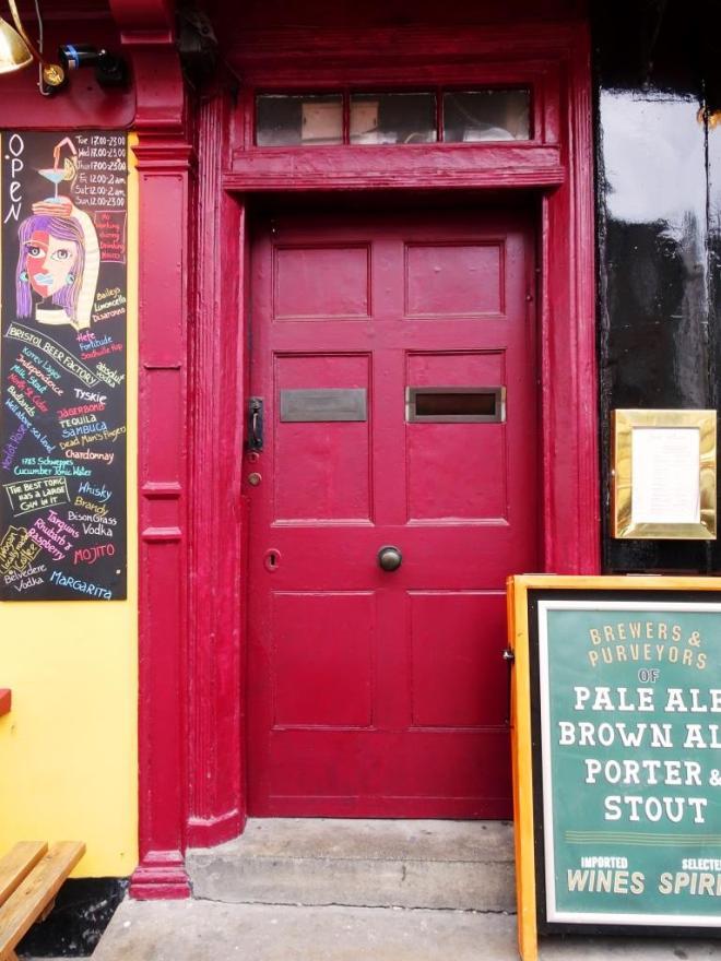 Pub door, Bristol, March 2019