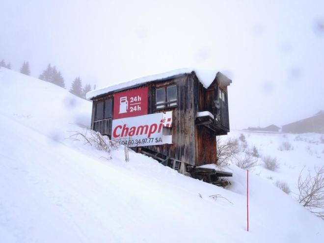Mountain hut - what is it with the petrol? Flaine, March 2019