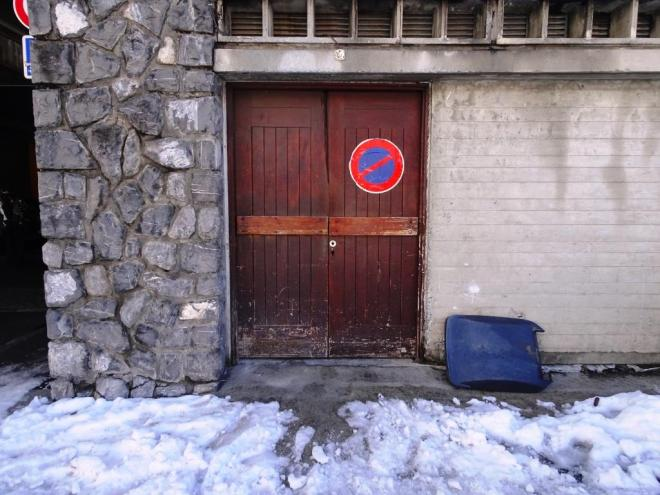 Ordinary door, Flaine, France, March 2019