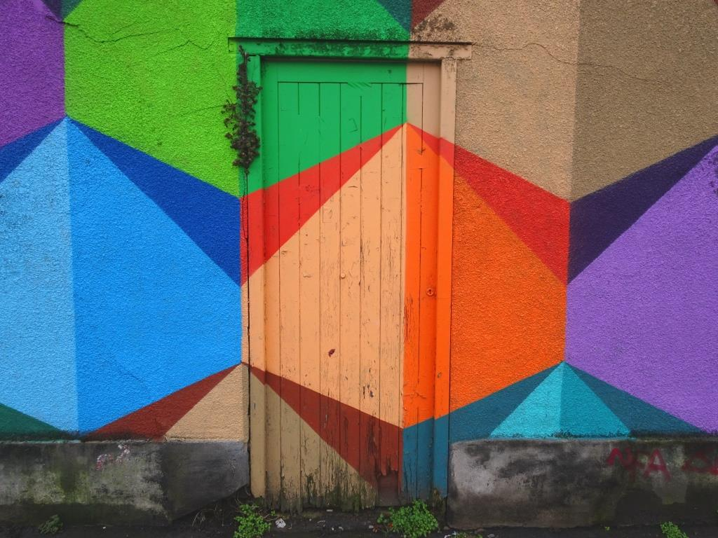 Door, North Street, Bristol, Artist: Paul Monsters, February 2019