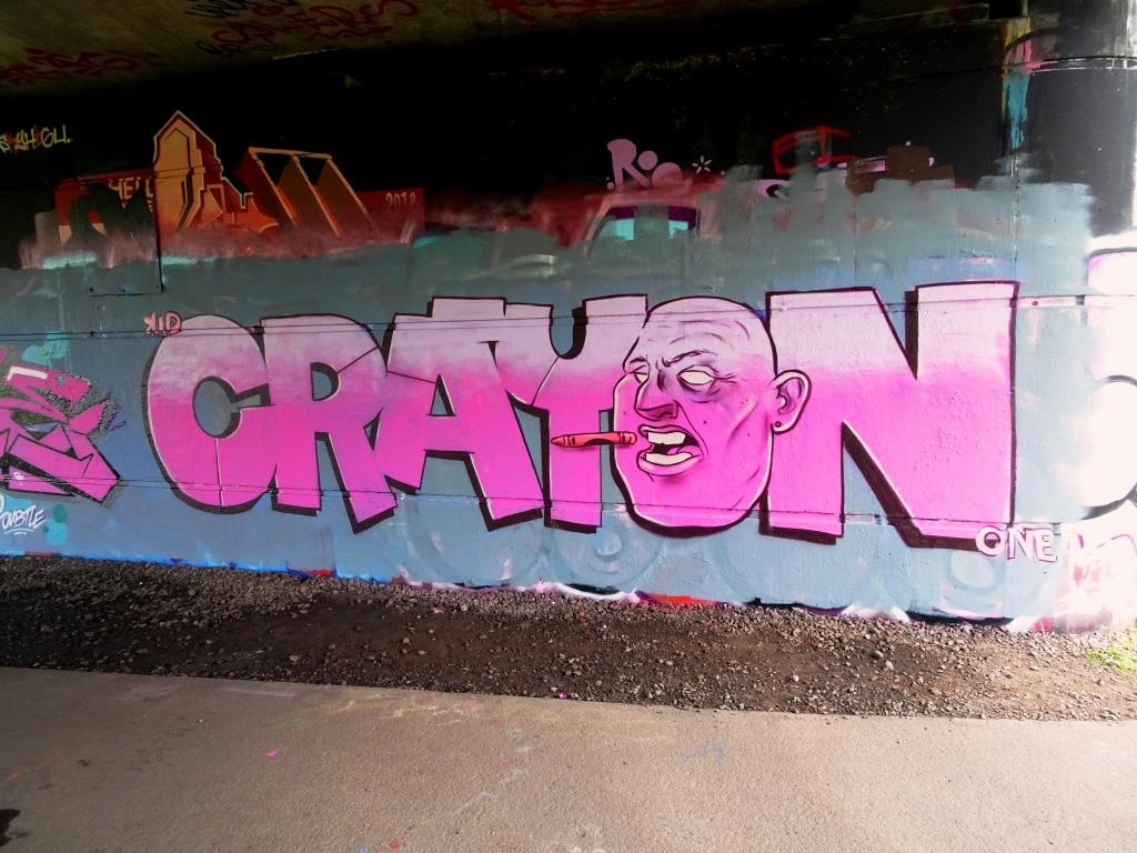 Kid Crayon, Brunel Way Bridge, Bristol, March 2019
