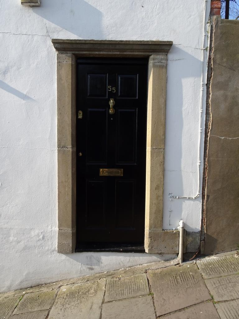 Another door on a steep hill, Kingsdown, Bristol, March 2019