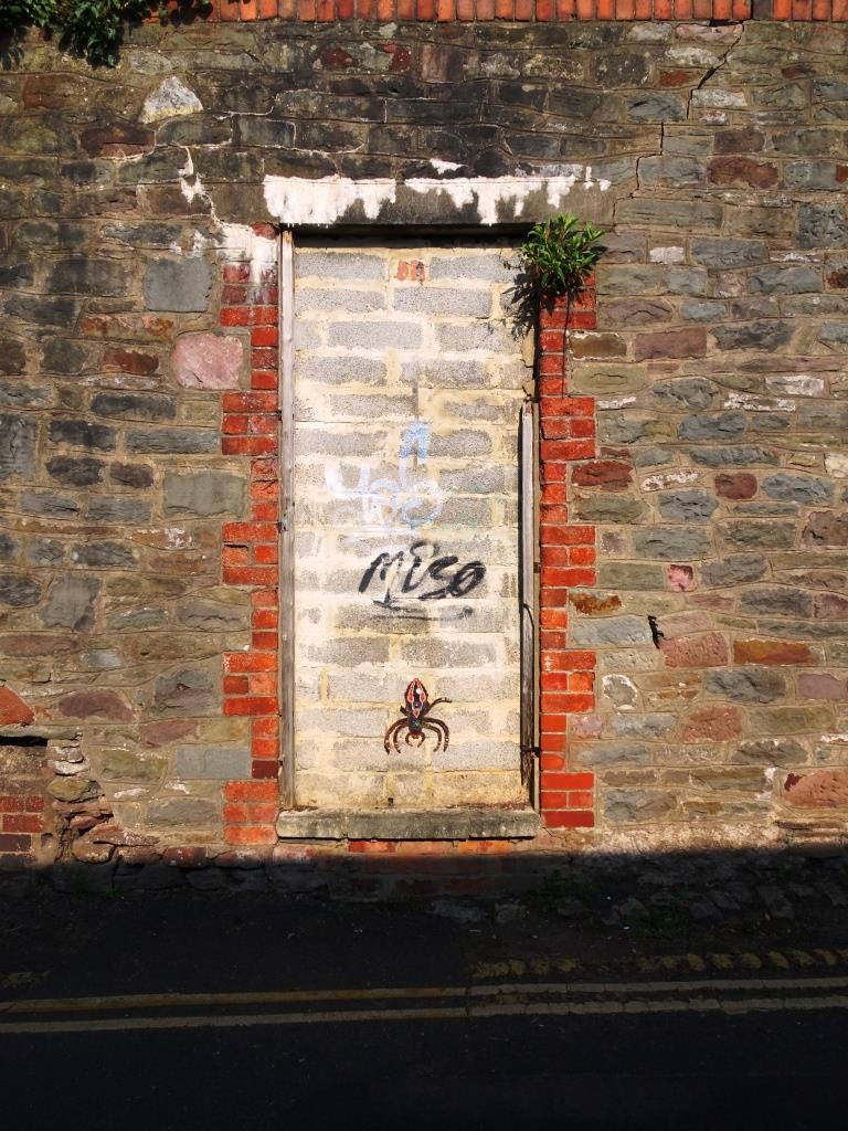 One of those doors that was a door but is no longer a door, Kingsdown, Bristol, March 2019