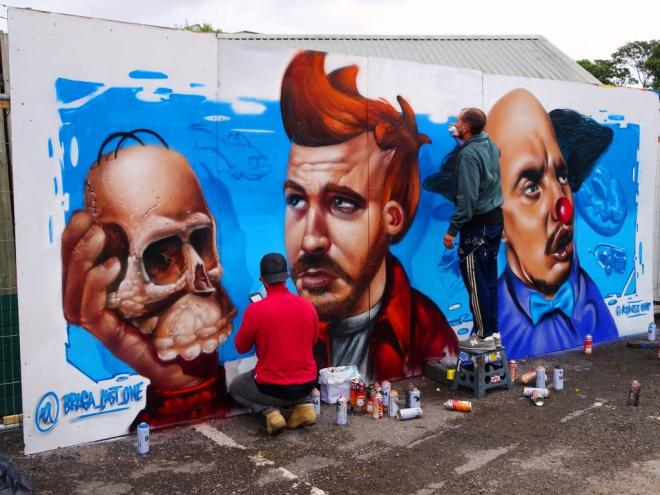 Braga Last1 and Kowse, Upfest, Bristol, July 2018