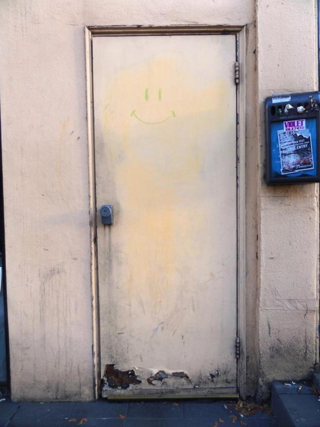 A rather plain and neglected door, Camden Town, November 2017