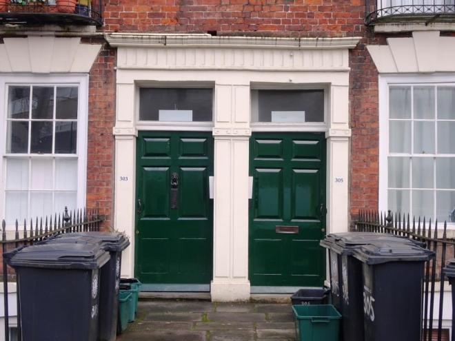 313 or 16? Door, Hotwells, Bristol, March 2019