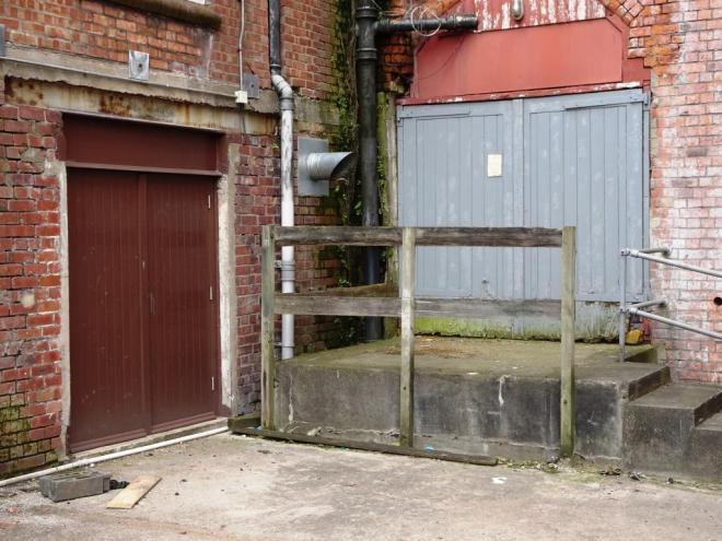 Warehouse doors, Gardiner Haskins building, Bristol, March 2019
