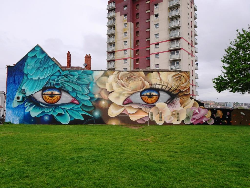 My Dog Sighs and Curtis Hylton, Windmill Hill, Bristol, April 2019