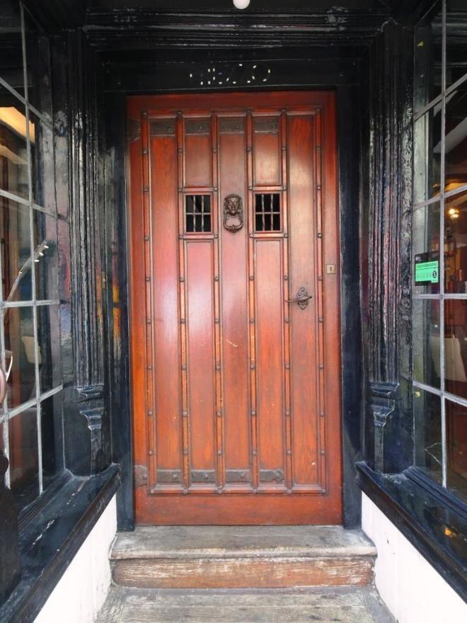Shop door, Dorchester, June 2019