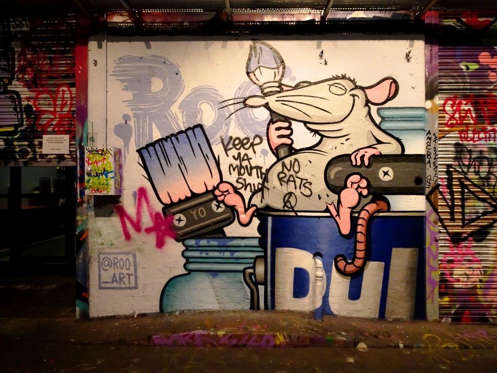 Roo, Leake Street, London, July 2019
