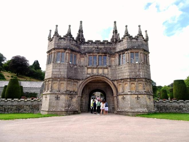 Lanhydrock House barbican gate added in the 1640s, Cornwall, August 2019