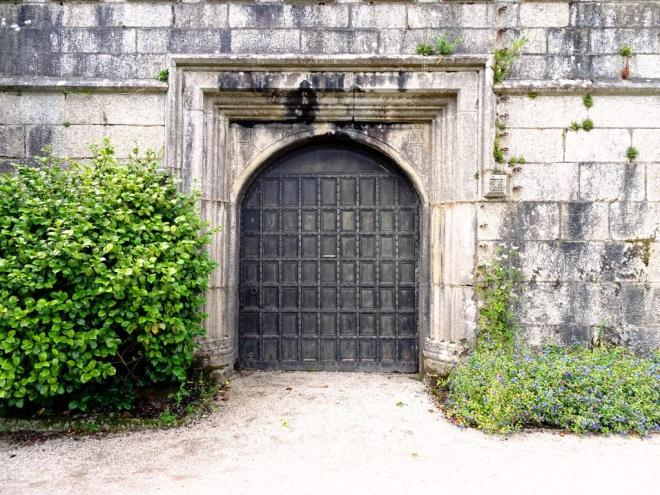 Front of door to courtyard, Lanhydrock House, Cornwall, August 2019