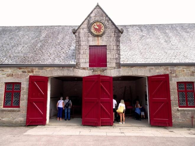 Coach house doors, Lanhydrock House, Cornwall, August 2019