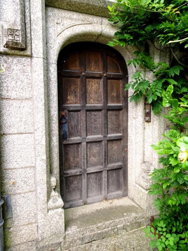 One of many entrances to the house, Lanhydrock House, Cornwall, August 2019