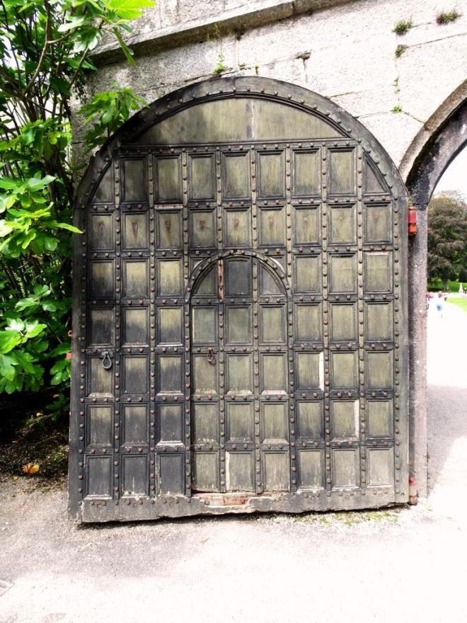 Perfect door within a door, Lanhydrock House, Cornwall, August 2019