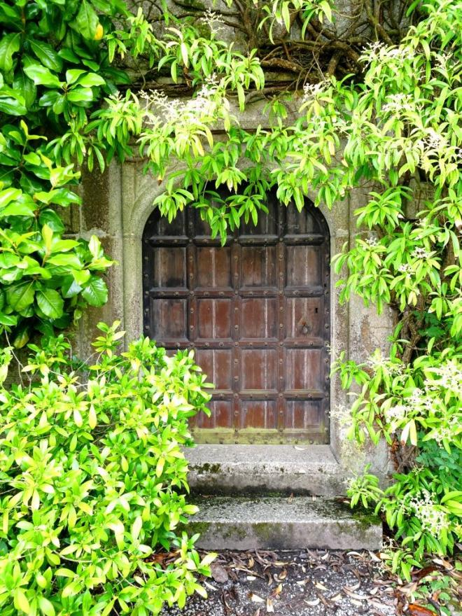 Larger door to the house, Lanhydrock House, Cornwall, August 2019