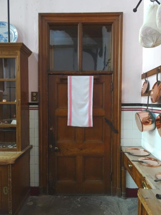 One of several kitchen doors, Lanhydrock House, Cornwall, August 2019