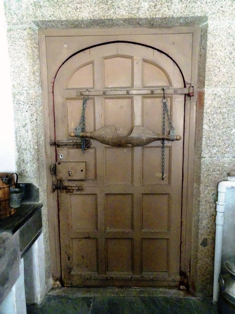 Dairy door, Lanhydrock House, Cornwall, August 2019