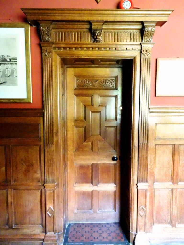 Upstairs door, Lanhydrock House, Cornwall, August 2019