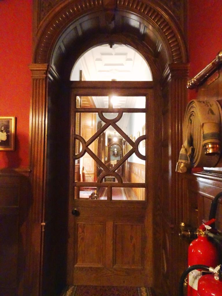 Coridoor door, Lanhydrock House, Cornwall, August 2019