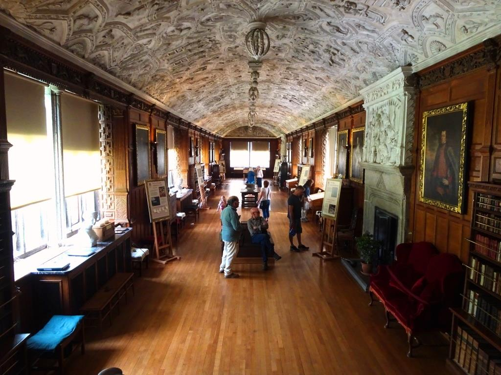 The long gallery, Lanhydrock House, Cornwall, August 2019