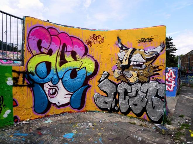 Face 1st and Daz Cat, Dean Lane, Bristol, August 2019