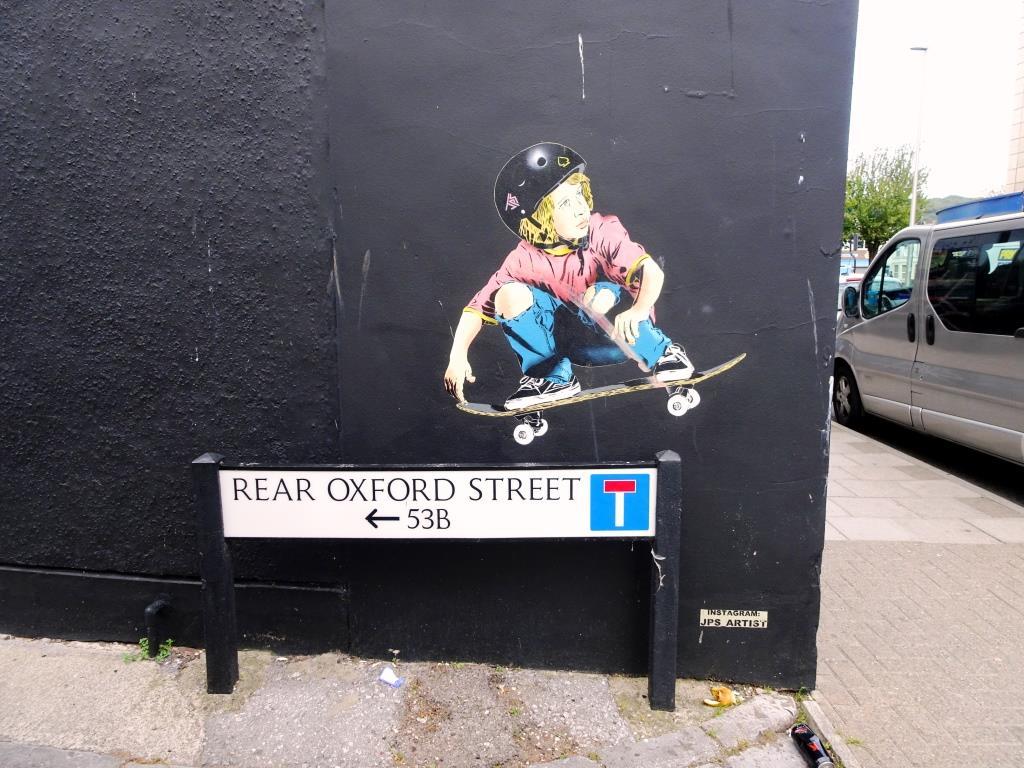 JPS, Rear Oxford Street, Weston-super-Mare, August 2019
