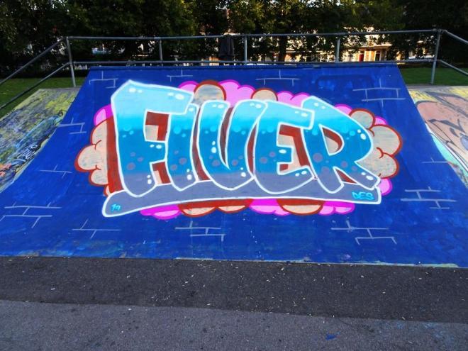 Fiva, St George skate park, Bristol, September 2019