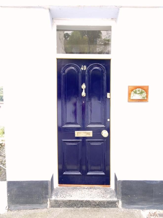Blue door, Fowey, Cornwall, September 2019