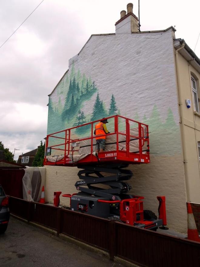 Fabio Petani, Paint Festival 2019, Cheltenham, September 2019