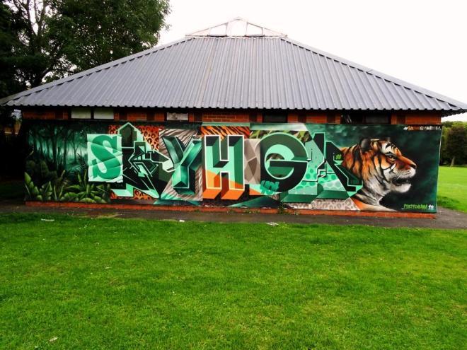 SkyHigh, Paint Festival 2018, Cheltenham, September 2019