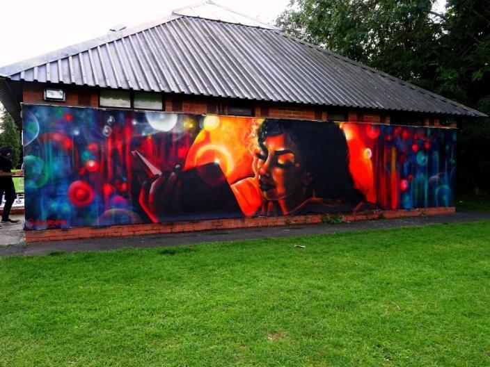 Hazard, Paint Festival 2019, Cheltenham, September 2019