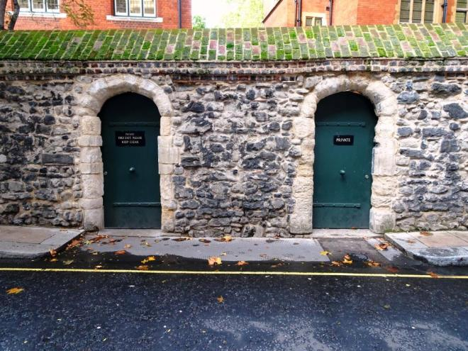 A pair of wall doors, Westminster, October 2019
