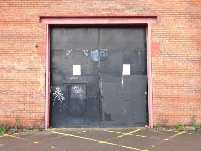 Boat Yard door, the Harbourside, Bristol, November 2019