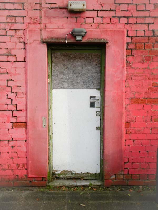 Ugly, sad door, the Harbourside, Bristol, November 2019
