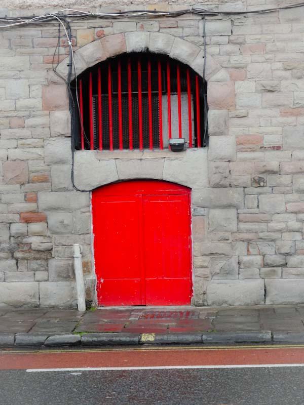 Red door, the Harbourside, Bristol, November 2019