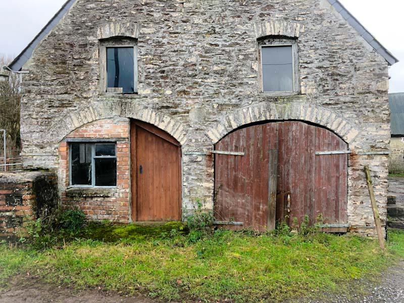 Abandoned farmhouse doors, Llangorse Lake, Wales, December 2019