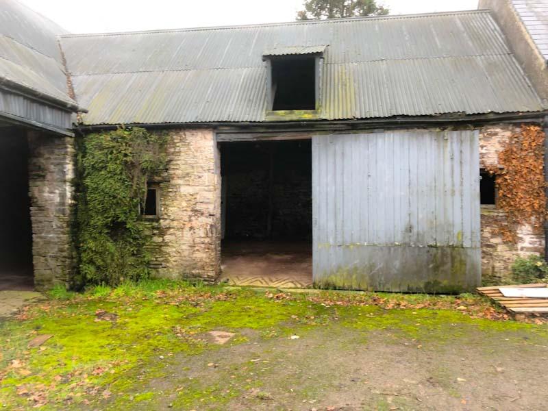 Abandoned farm barn door, Llangorse Lake, Wales, December 2019