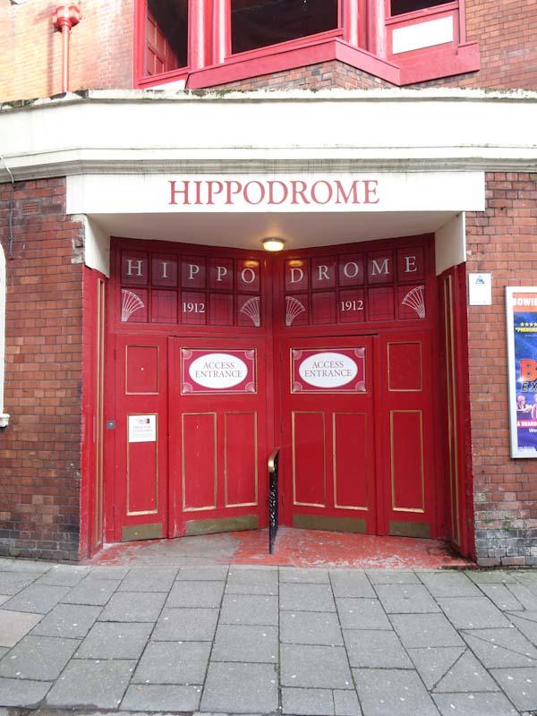 Access entrance doors, Bristol Hippodrome, Decmber 2019